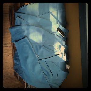 Dusty teal suit, 11 pants, XL jacket
